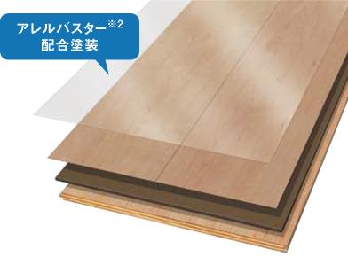 アレルバスター配合の床材